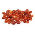 60 Loose Amber Beads - Raw Unpolished Cognac 3-4mm Width - Pre-Drilled Holes DIY
