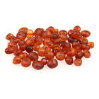 60 Loose Amber Beads Raw Unpolished Cognac 3 4mm Width Pre Drilled Holes DIY