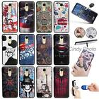 "For Huawei Enjoy 6 NCE-AL00 5.0"" 3D Emboss Cartoon Finger Ring Stand Case Cover"