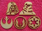 Wooden MDF Star Wars Sets Star Wars Blanks Qty 1,2,3,4 or 5, 3mm Thick £3.9 GBP