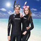 NEW! Men&Women Snorkeling Diving Skinsuit Surfing Long-sleeve Tops Wetsuit