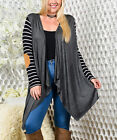 2017 New Stripe Print Casual Women Long Loose Patchwork Patch Cardigans Outwears