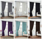 Faux Suede Eyelet/ring Top Lined Curtain Pairs - Free Delivery - To Clear