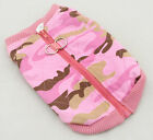 NEW DOG Harness VEST Coat Jacket Camouflage Pink (4 SM BREED) XS-LG D-Ring Camo