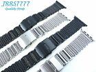 Apple watch 38mm Stainless Steel mesh bracelet SHARK Silver Black Iwatch band