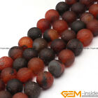 """Natural Dream Agate Matte Frost Round Beads For Jewelry Making Strand 15""""10-12mm"""