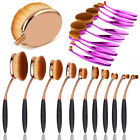 Pro Beauty Toothbrush Eyeliner Foundation Power Makeup Brushes Oval Cream Puff
