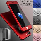 Hybrid New Shockproof Case Tempered Glass Cover For Apple iPhone 8 7 6 5 SE Plus