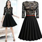 MIUSOL Women Sexy Lace Stitching Evening Party Front Zipper Quick Delivery Dress