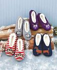 Women's Sherpa-Lined Critter Slippers Skid-Resistant Warm Soft 1 Pair