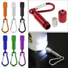 LED Portable Flashlight camping Keychain Torch Handy Light Lamp Carabiner