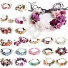 Women Flower Crown Headband Floral Hair Garland Handmade Wedding Party Hairband
