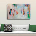 Abstract Feather Stretched Canvas Print Framed Wall Art Home Decor Painting Gift