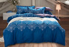 100% Combed Cotton Duvet Cover Set Queen King Made In Canada  #1602