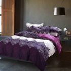 100% Combed Cotton Duvet Cover Set Queen King Made In Canada  #1601