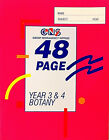 3 or 6 Books BOTANY YEAR 3/4 BOOK C5 SIZE 48 PAGES + FREE GIFT + FREE SHIPPING