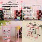 Earrings Necklace Ear Studs Jewelry Display Show Metal Stand Organizer Holder