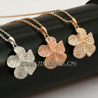 A1-P275 Fashion Rhinestone Flower Necklace Pendant 18KGP Crystal