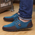 Men's Flats Hit Color Canvas Cool Breathable Recreational Shoes Casual Dressed