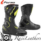 FORMA FRECCIA BLACK FLUO YELLOW MOTORCYCLE MOTORBIKE SPORTS RACE RACING BOOTS