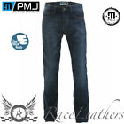 PMJ RIDER BLUE REINFORCED ANTI-ABRASION MOTORCYCLE MOTORBIKE JEANS WITH ARMOUR