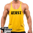 BEAST Mode Gym Singlets Men's Tank Top Bodybuilding Workout MMA Fitness Art-6