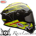 BELL STAR ISLE OF MAN IOM TT BLACK YELLOW MOTORCYCLE MOTORBIKE BIKE HELMET