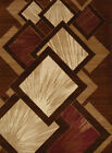 Brown Faded Diamonds Lines Explosions Contemporary Area Rug Geometric 710-00650