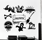 Vinyl Wall Decal Halloween Feast Horror Monsters Ghosts Stickers 747ig