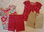 JUMPING BEANS Girls 2T or 3T Choice Bermuda Shirt Cotton Summer Outfit NWT
