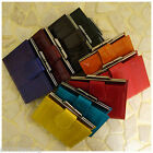 Genuine Eel Skin Leather button close wallet Purse Wallet