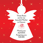 Angel Memorial Missing you always forgetting you never Mother/Father. Roses AG7
