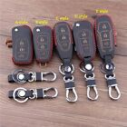 Leather car key cover case for Ford Fiesta Focus Mondeo  Ecosport Kuga Escape