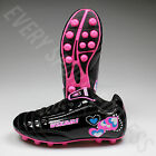 Vizari  Retro Hearts Black and Pink Junior  Soccer Cleats  L