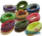 Two Tone Colourful Flat Shoelaces - 120cm Woven Shoe Laces - Free UK Post