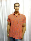 POLO Ralph Lauren mens Fine Orange Paisley Featherweight Mesh polo shirt L NEW
