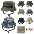 Bucket Hat Camo Cap Army Hat Military Fashion Casual Hiking Hunting Fishing Caps