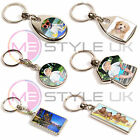 Personalised Metal Keyrings Double Sided - Upload Any Photo - Choice of Sizes