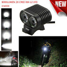 CREE 8000Lumen 2x XM-L2 LED Cycling Front Bicycle Bike light Headlight Headlamp