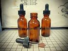 Choose Size and Qty Glass AMBER BOTTLES DROPPER essential oil fragrance DoTerra
