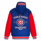 MLB Women's Chicago Cubs Champion Reversible Hoodie Jacket with Fleece Sleeves on Ebay