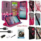 For ZTE Z MAX PRO ZMAX Pro Carry Z981 Premium PU Leather Wallet Case + Combo