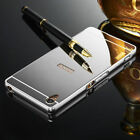 OU Luxury Mirror Back Cover Metal Bumper Aluminum Case For Sony Xperia Phones