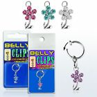 Illusion Test Belly Button Piercing Fake Clip Ladies Clamp Flower Silver Ring Ø