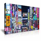 JAPAN Tokyo Skyline Abstract Canvas Wall Art Picture Print ~ More Size