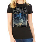 Star Wars A New Hope Gold Edged Juniors Black T-Shirt