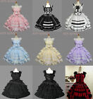 Ladies Sweet Cotton Lace Layered Gothic Lolita Dress Cosplay Costume 9 Colors