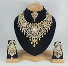 Indian Bollywood Style Fashion Gold Plated Bridal Jewelry Necklace Set S21
