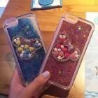 Cute Bling Diamond Mouse bow-knot  Quicksand case cover for  iphone 7 6 6s plus