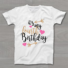 It's My 4th Fourth Birthday T-Shirt - Childrens Kids T Shirt Girls Cake Smash